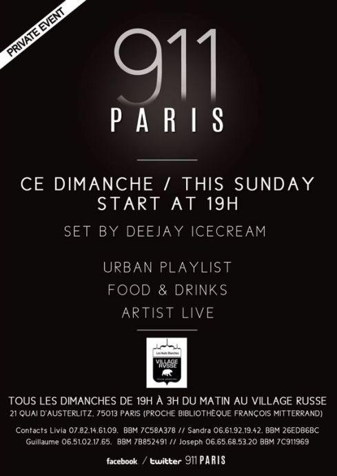911 Paris Tous les Dimanches